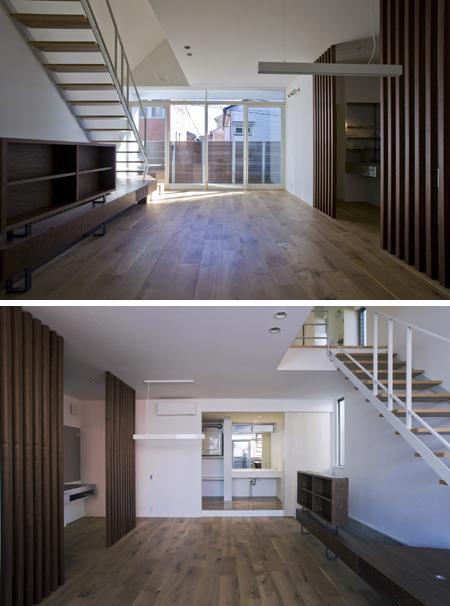 Japanese House Design  threewall design houses 24 sound