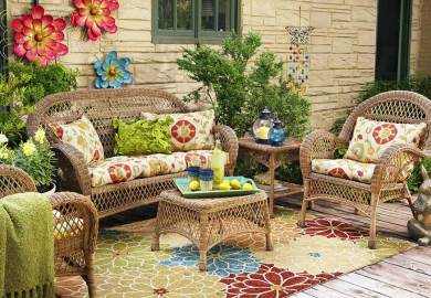 Colorful Wicker Patio Furniture