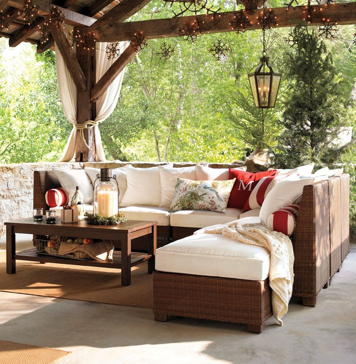 Designing Outdoor Living Room w Palmetto Sectional by Pottery Barn  Modern Outdoors