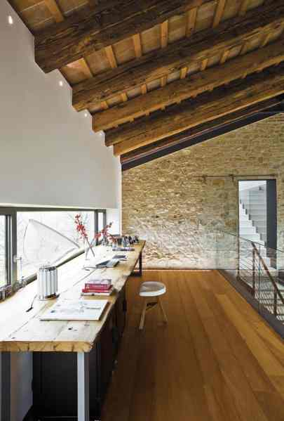 rustic modern office space 15 Modern Home Office Designs you won't get any work done in