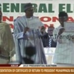 News: INEC Presents Buhari And Osinbajo Certificates Of Return (Photos+Video)