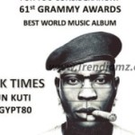 E! News: Seun Kuti To Perform At This Year's Grammy Awards
