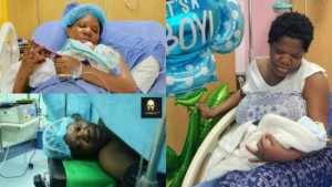My husband fainted when our son was delivered – Toyin Abraham