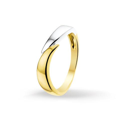 Bicolor gouden dames ring 4205405 huiscollectie Trendjuwelier
