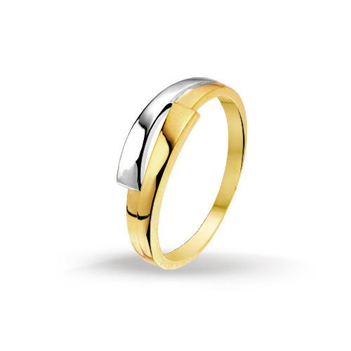 Bicolor gouden dames ring 4205425 huiscollectie Trendjuwelier