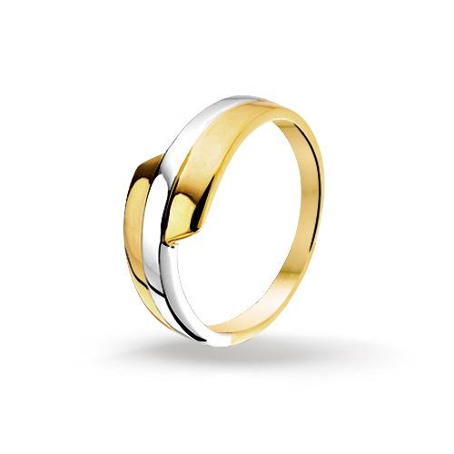 Bicolor gouden dames ring 4205440 huiscollectie Trendjuwelier