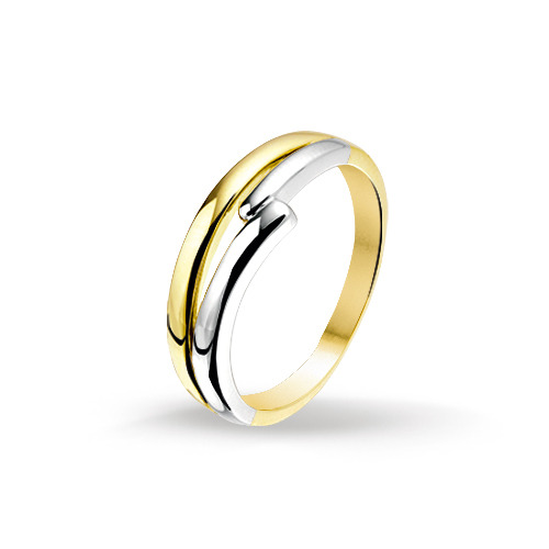 Bicolor gouden dames ring 4205522 huiscollectie Trendjuwelier
