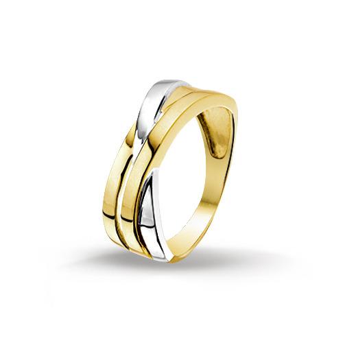 Bicolor gouden dames ring 4205570 huiscollectie Trendjuwelier