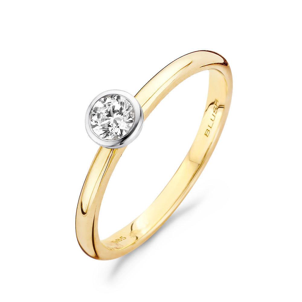 Blush 1124BZI Dames ring bicolor goud  Trendjuwelier