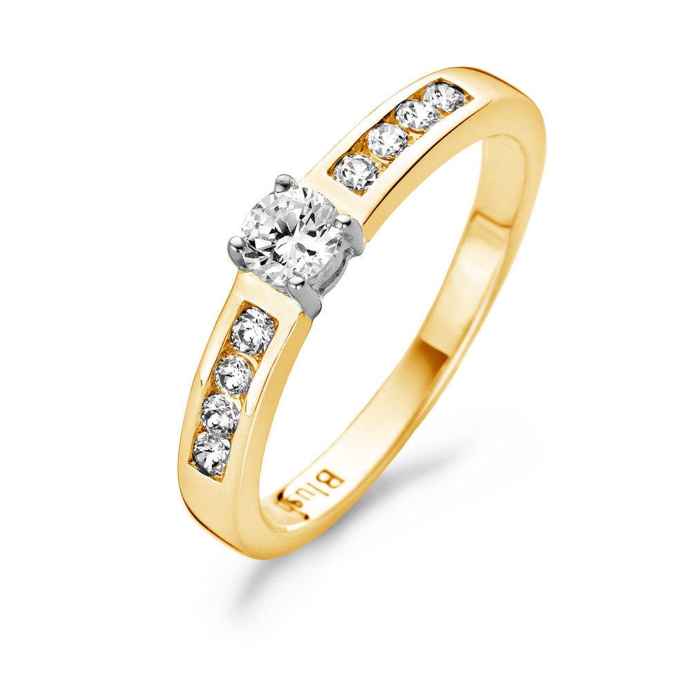 Blush 1125BZI Dames ring van bicolor  Trendjuwelier