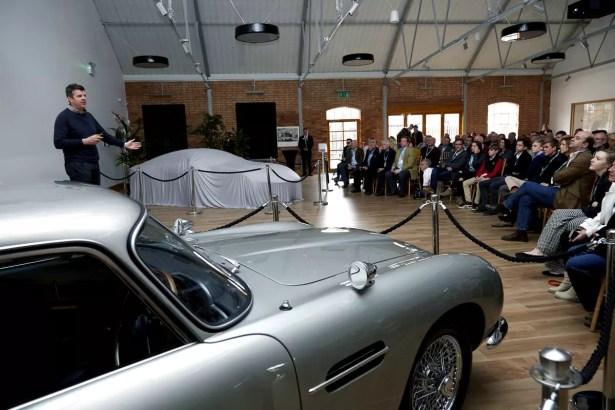 Aston Martin DB10 Tour Newport Pagnell stunt driver Mark Higgins