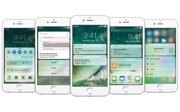 The new iOS10 lock screen