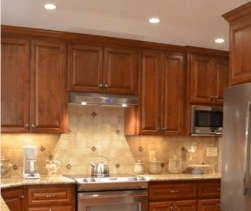 Recessed Lighting Tall Cabinets Kitchen Remodel
