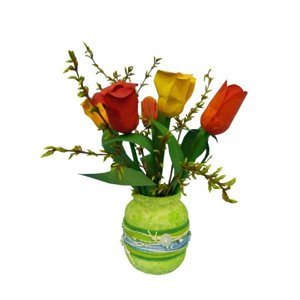 Dekoideen Frhling Blumentischdekoration Basteln