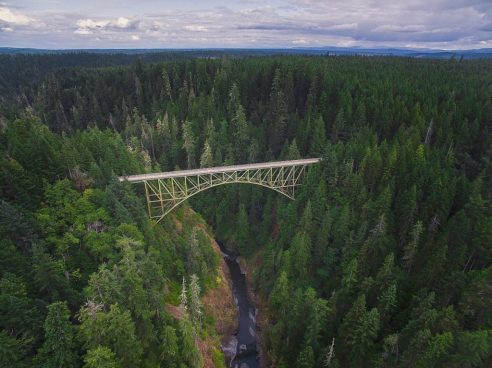 High Steel Bridge, Shelton, Washington - Best places to bungee jump - 2018 - TrendMut- USA