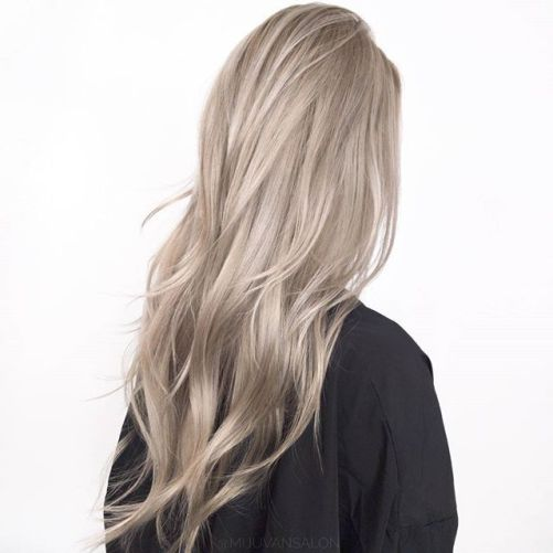 beige hair - best hair color trends for 2018