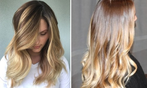 golden ombre hair - best hair color trends for 2018