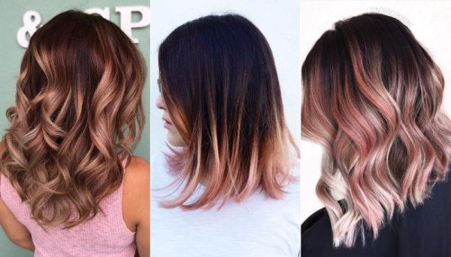 rose gold hair - best hair color trends for 2018