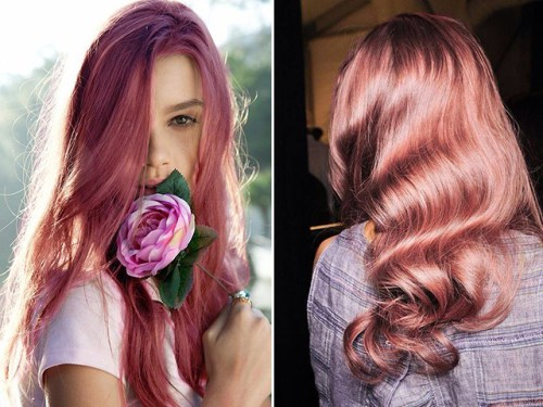strawberry rose hair - best hair color trends for 2018
