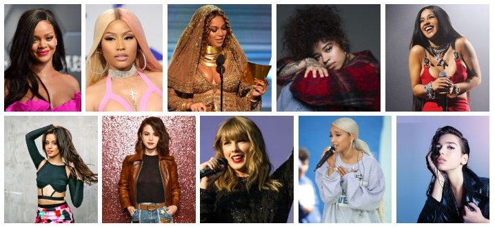 Top Ten Female Singers of 2018