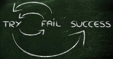 cope with failure - fail, try, succeed