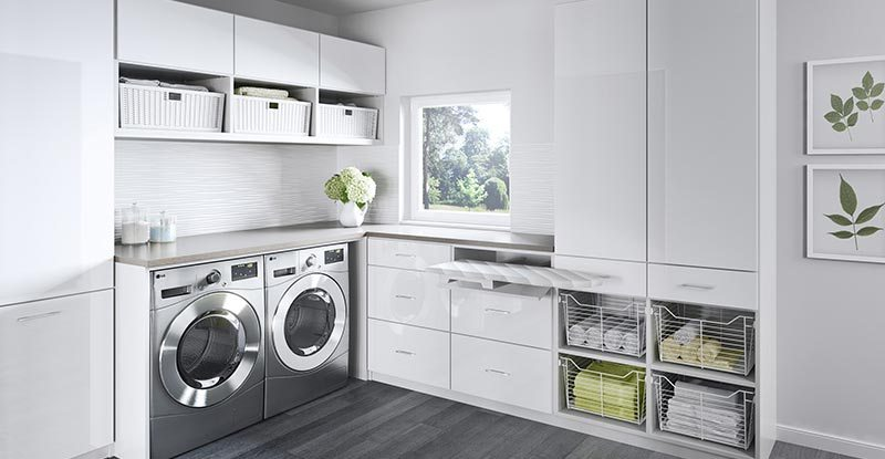 glass cabinet uses in laundry room