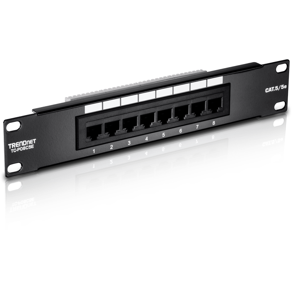 hight resolution of 8 port cat 5e unshielded patch panel trendnet tc p08c5e ethernet wifi routers bluetooth wiring through a patch panel
