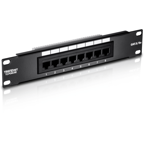 small resolution of 8 port cat 5e unshielded patch panel trendnet tc p08c5e ethernet wifi routers bluetooth wiring through a patch panel