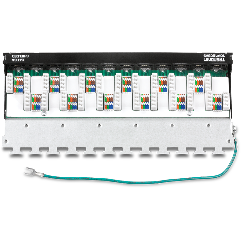 hight resolution of 12 port cat6a shielded wall mount patch panel