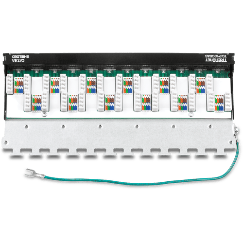 small resolution of 12 port cat6a shielded wall mount patch panel