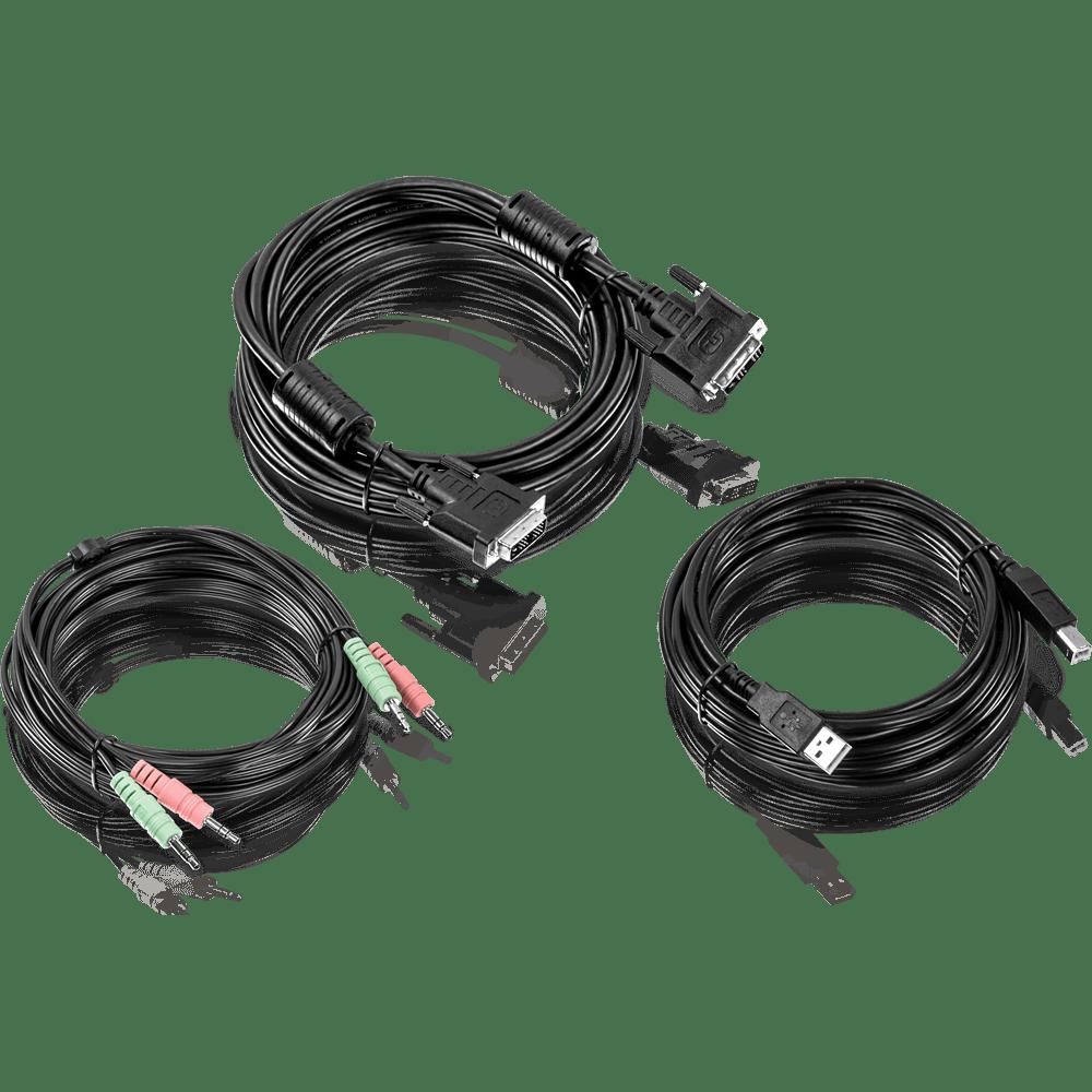 medium resolution of dvi i usb and audio kvm cable kit