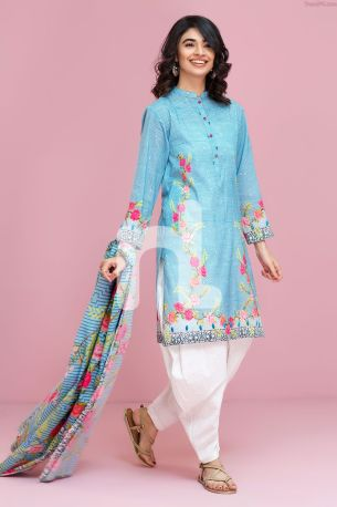 Lawn 2 Piece-Nishan Linen Spring Summer Collection 2017 1