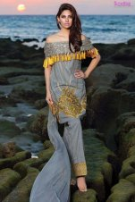 1575-STEEL-GREY EMBROIDERED LAWN UNSTITCHED 5,790