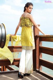 1578-CITRON-YELLOW EMBROIDERED LAWN UNSTITCHED 5,790