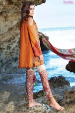 1585-BURNT-ORANGE EMBROIDERED LAWN UNSTITCHED 5,790
