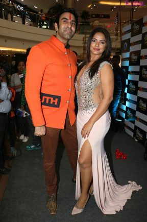 Sandip Soparrkar with Neetu Chandra at India Dance Week