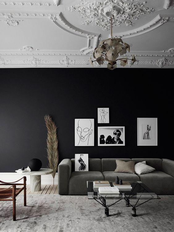 5 idees pour oser le noir sur vos murs