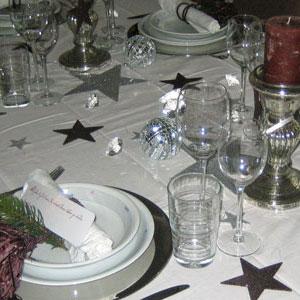 Tisch und Tafeldekorationen fr Weihnachten