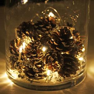 Weihnachtsbeleuchtung  Lichterschmuck Kerzen und