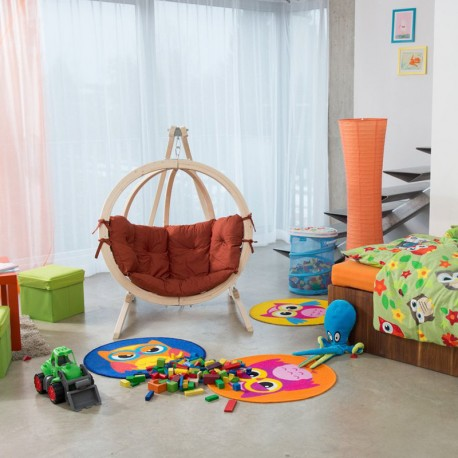 fauteuil suspendu pour enfant en bois globo terracotta amazonas