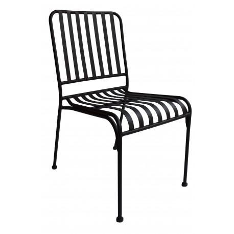 chaise en metal empilable couleur rouille mozaik lot de 4 givex