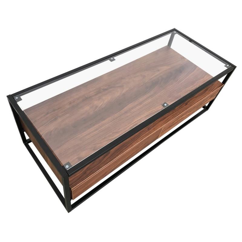meuble tv industrielle en verre metal