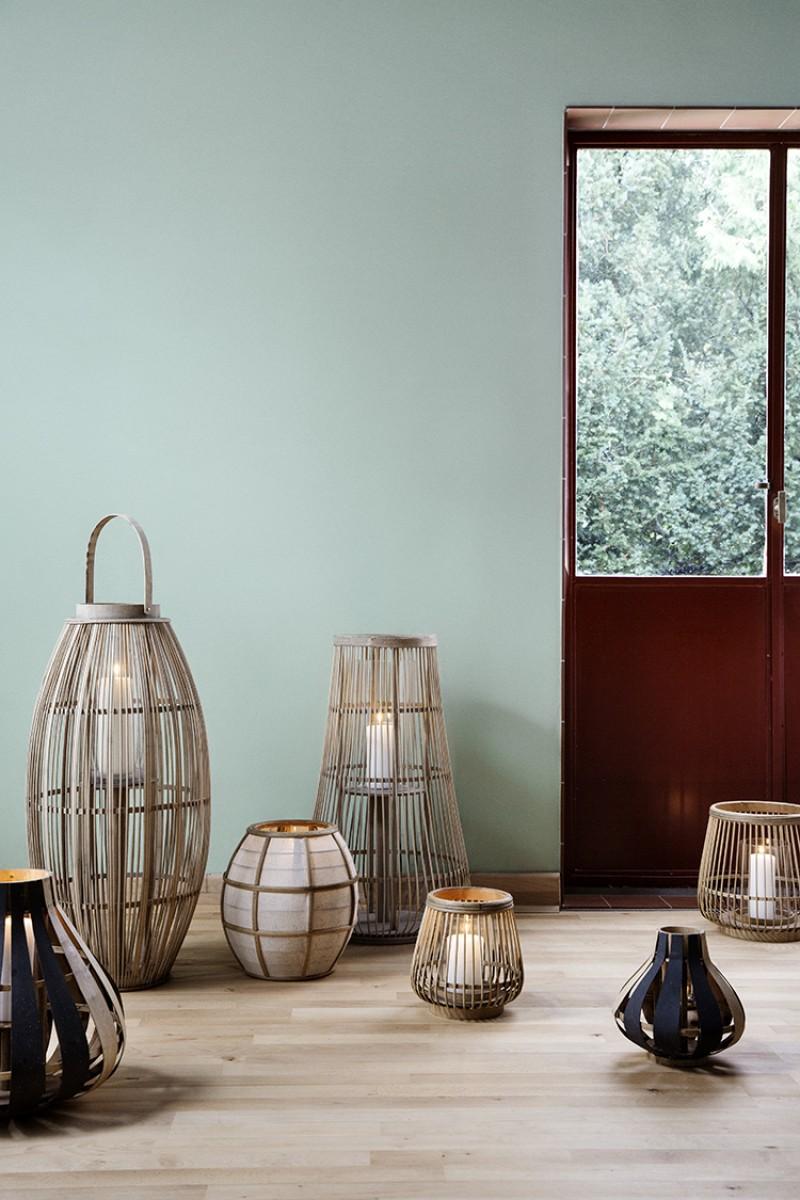 Broste Copenhagen  windlicht Cait bamboe  Lantaarn
