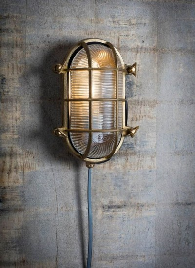 Bullseye Lamp Messing Ovaal Devonport  Buitenlamp Messing