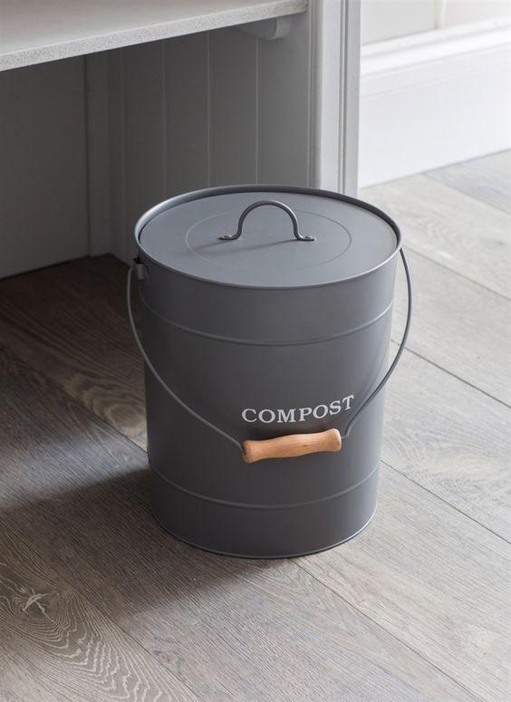Compostemmer  Donkergrijs 10 liter  Keuken