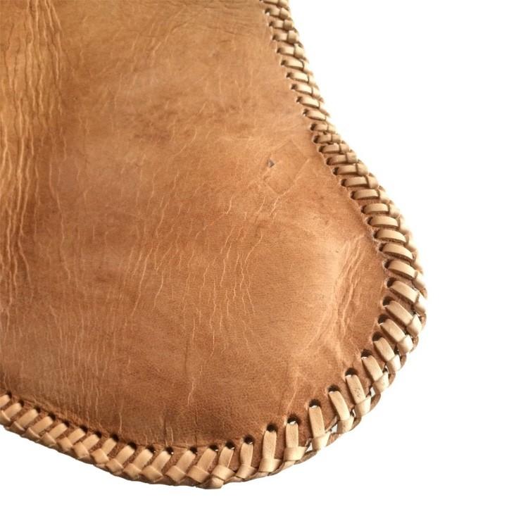 Malagoon  Leren Vlinderstoel Natuurlijk Bruin