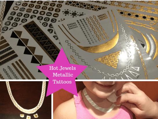 #GiaAmelia Hot Jewels Metallic Tattoos