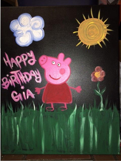 DIY Peppa Pig Painting Party