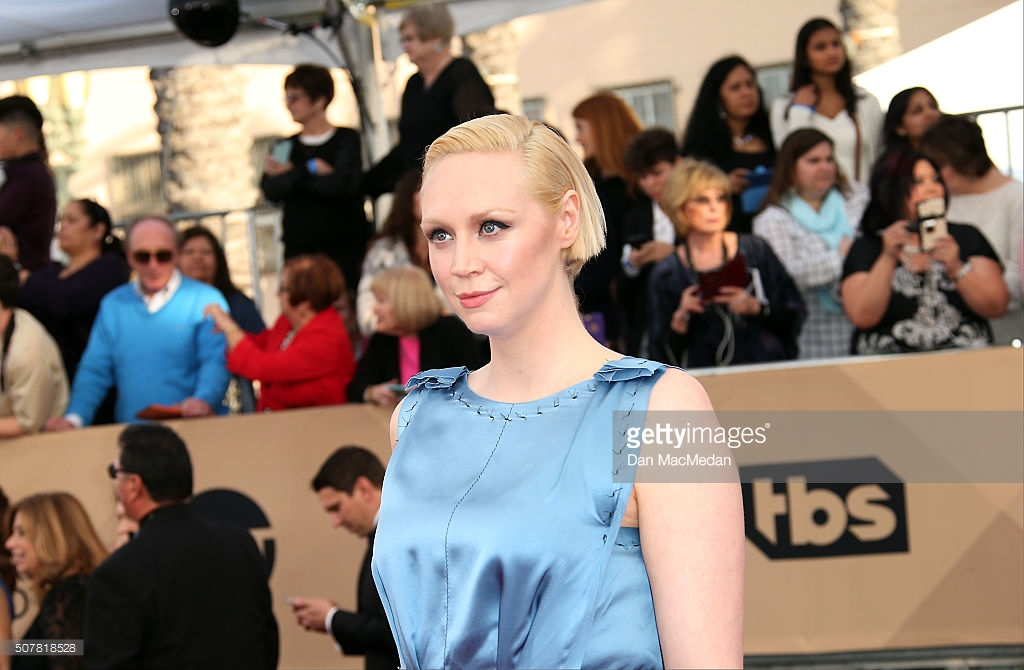 LOS ANGELES, CA - JANUARY 30: Actress Gwendoline Christie attends the 22nd Annual Screen Actors Guild Awards at The Shrine Auditorium on January 30, 2016 in Los Angeles, California. (Photo by Dan MacMedan/WireImage) *** Local Caption *** Gwendoline Christie