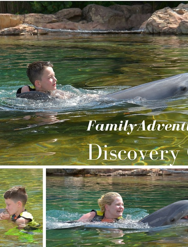 Family adventures at Discovery Cove